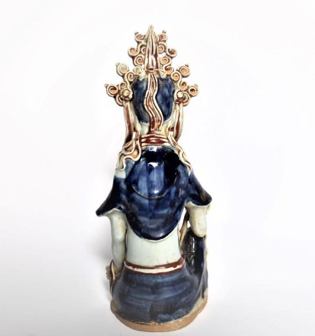 Chinese Porcelain Buddha Figure - 5