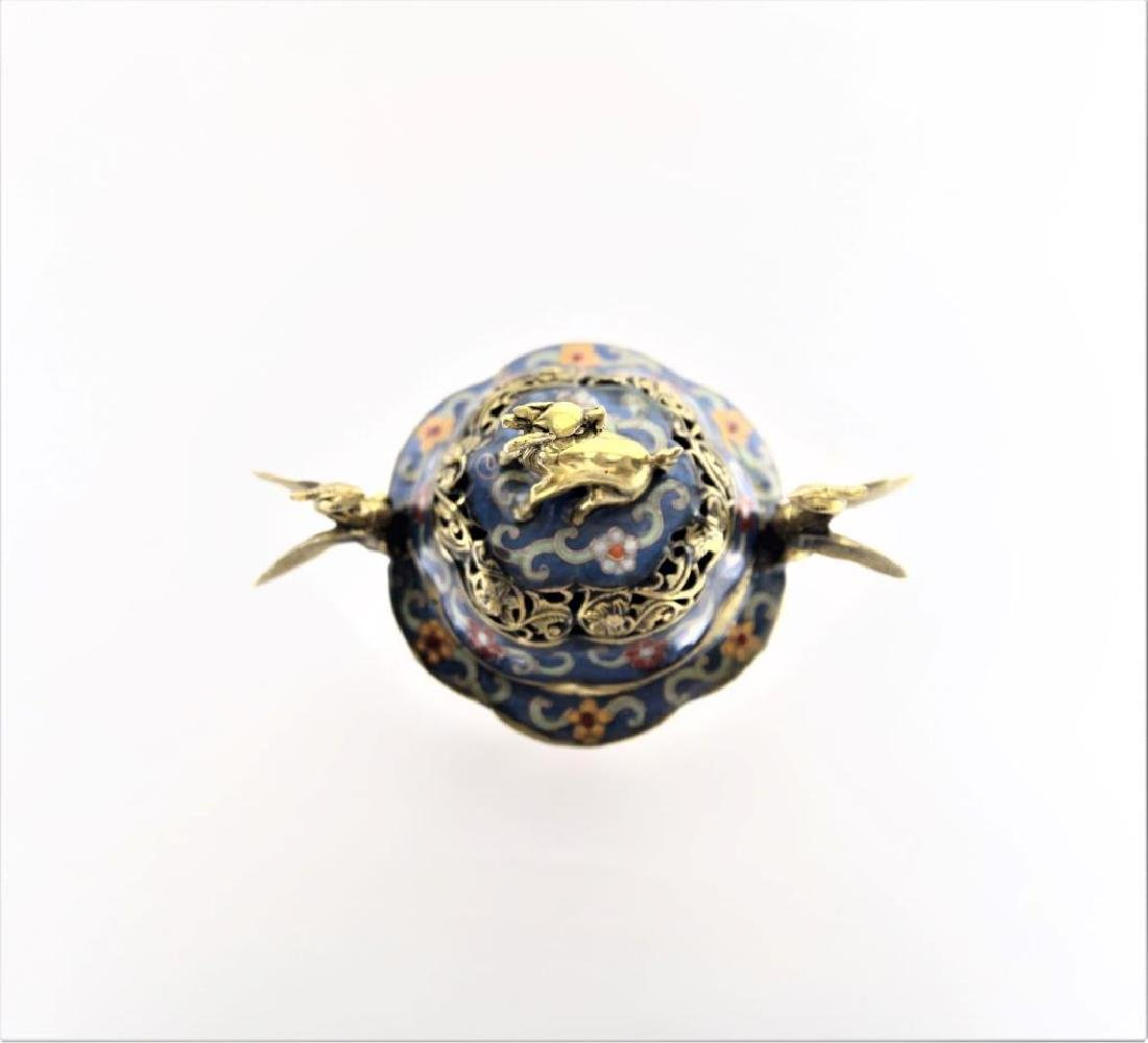 Chinese Cloisonne Incense Burner - 3