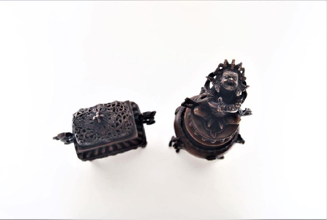 Set of Chinese Bronze Incense Burners - 2