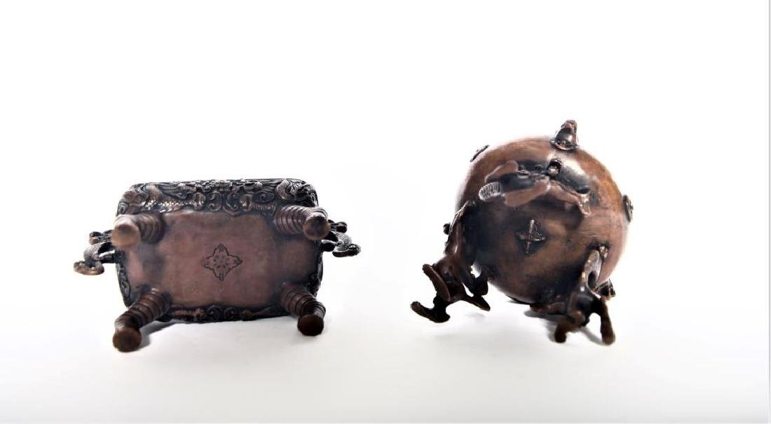 Set of Chinese Bronze Incense Burners - 4