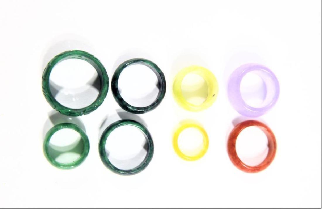 (8) Colored Mini Stone Rings - 3