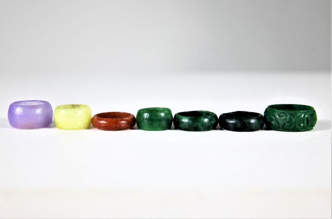 (8) Colored Mini Stone Rings - 5