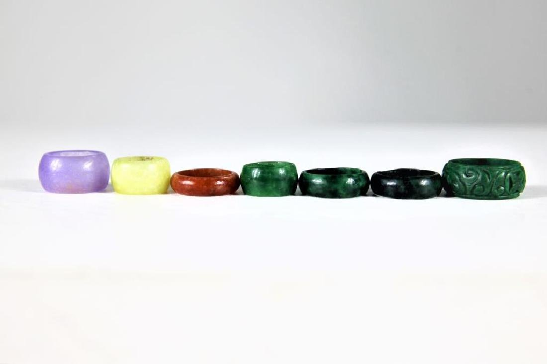 (8) Colored Mini Stone Rings - 6