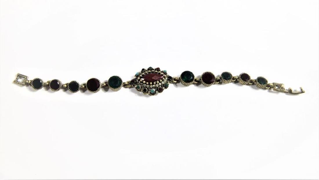 Bracelet with Inset Colored Stone