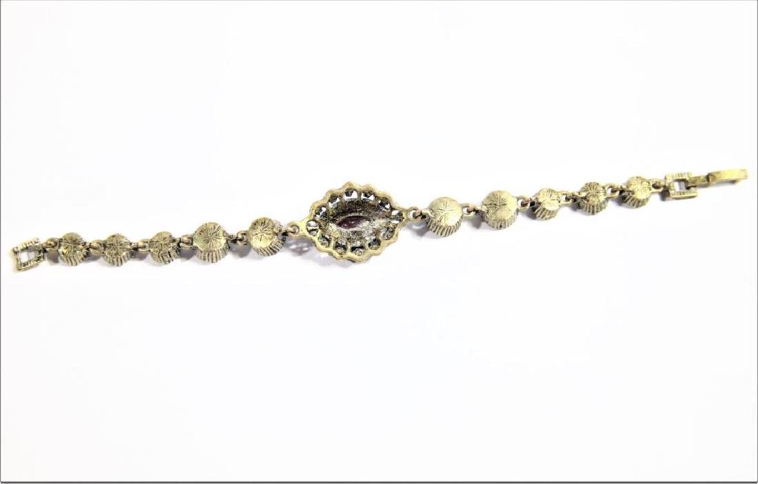 Bracelet with Inset Colored Stone - 2