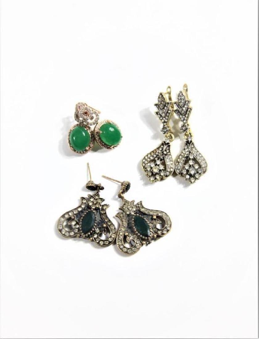 (3) Pairs of Earrings