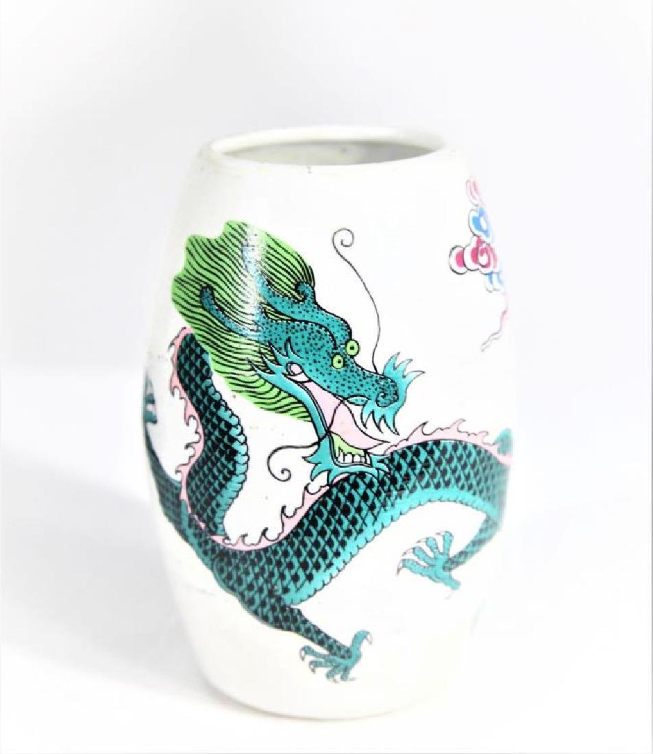 Small Porcelain Vase With Dragon