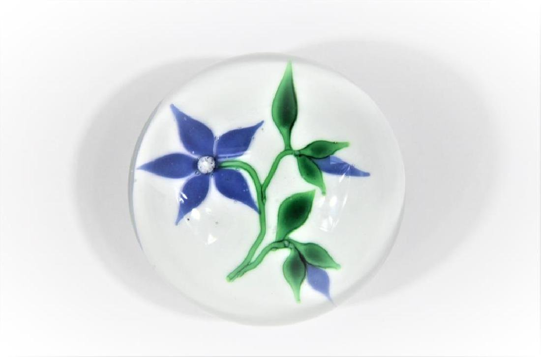 Ron Hamon paperweight, Clematis blossom