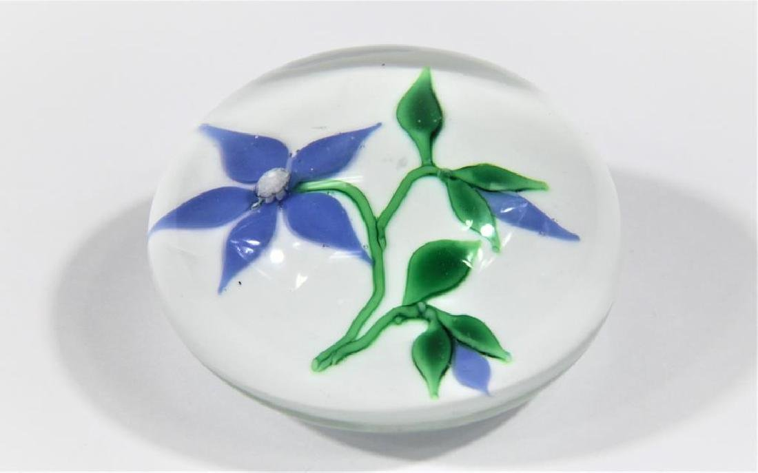 Ron Hamon paperweight, Clematis blossom - 2