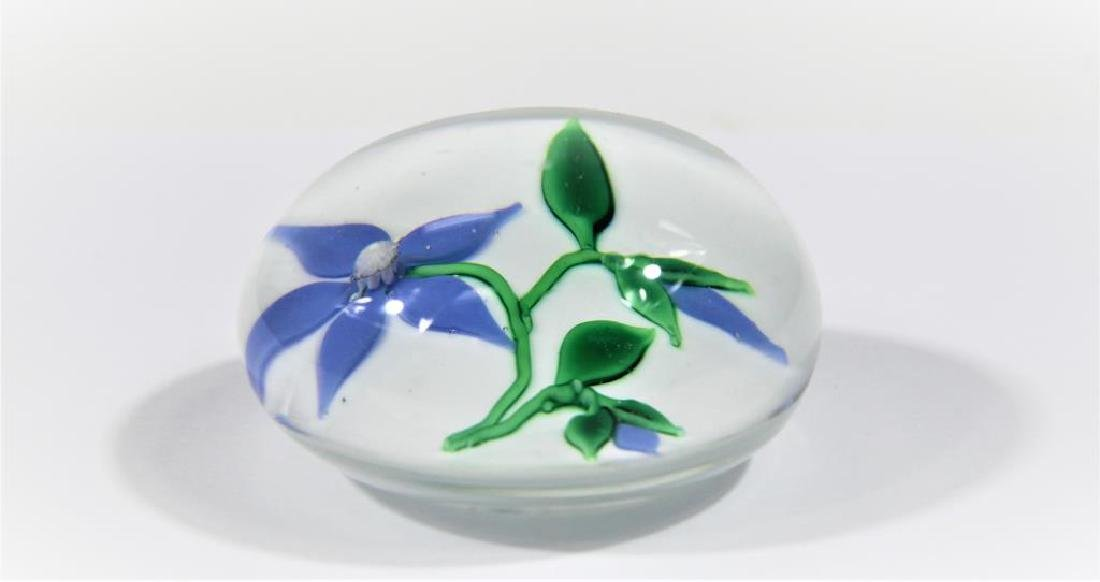 Ron Hamon paperweight, Clematis blossom - 3