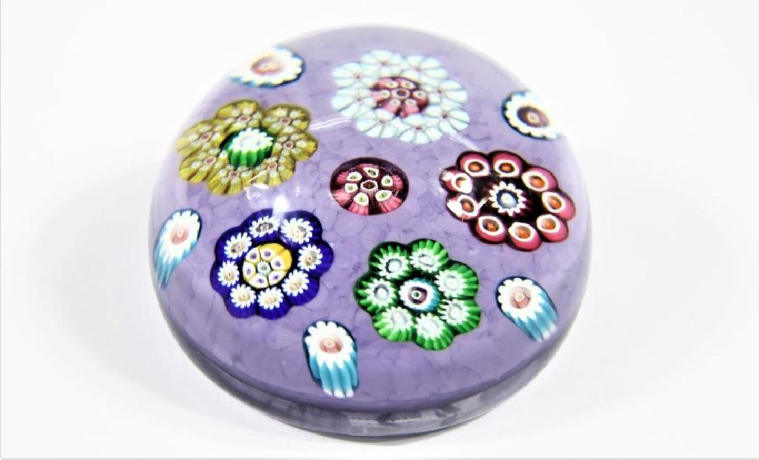 Paperweight with light plum background - 2