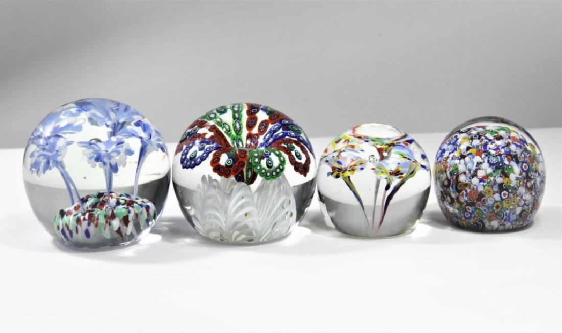Four (4) Gentile Glass paperweights - 2