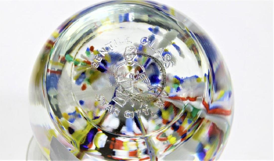 Four (4) Gentile Glass paperweights - 7