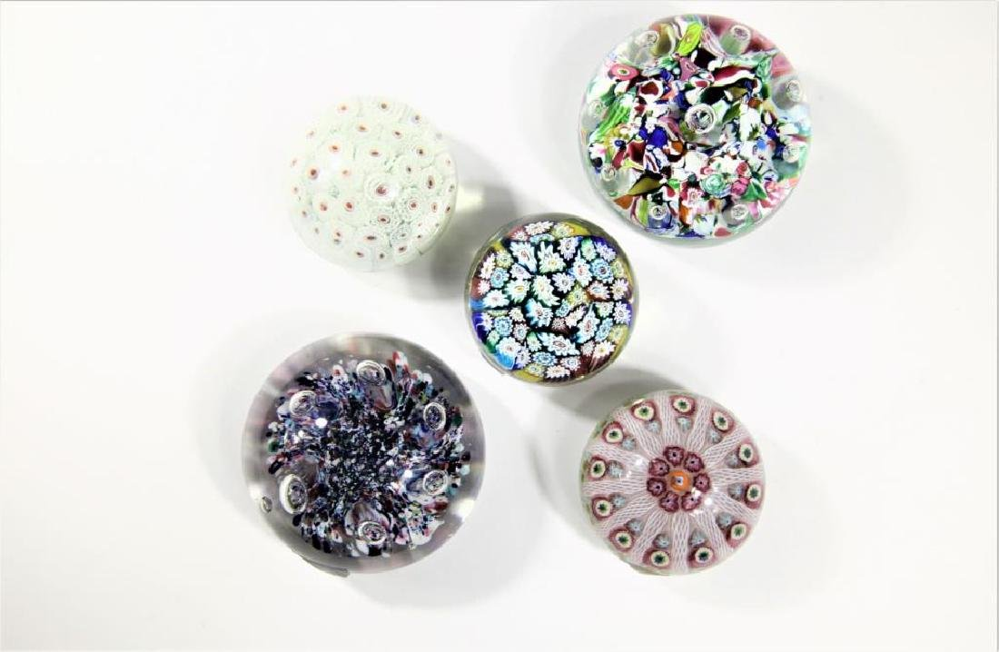 Five (5) paperweights