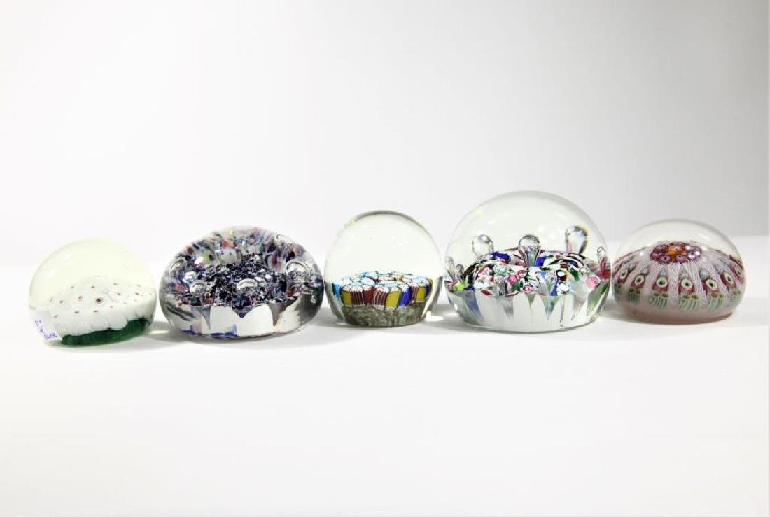 Five (5) paperweights - 3