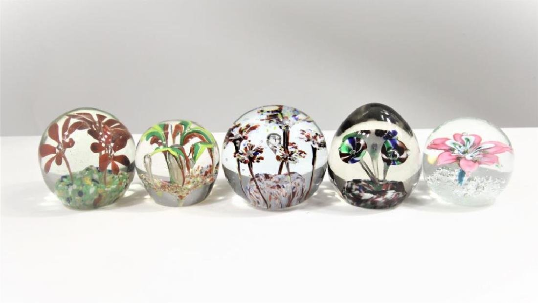 Five (5) paperweights - 2
