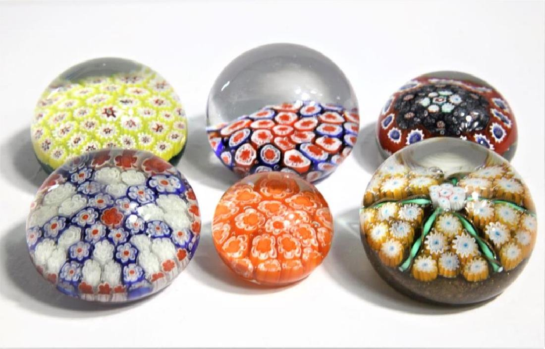 Six (6) Murano-style paperweights - 2