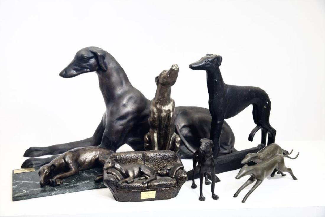 A Collection of Greyhound Figurines