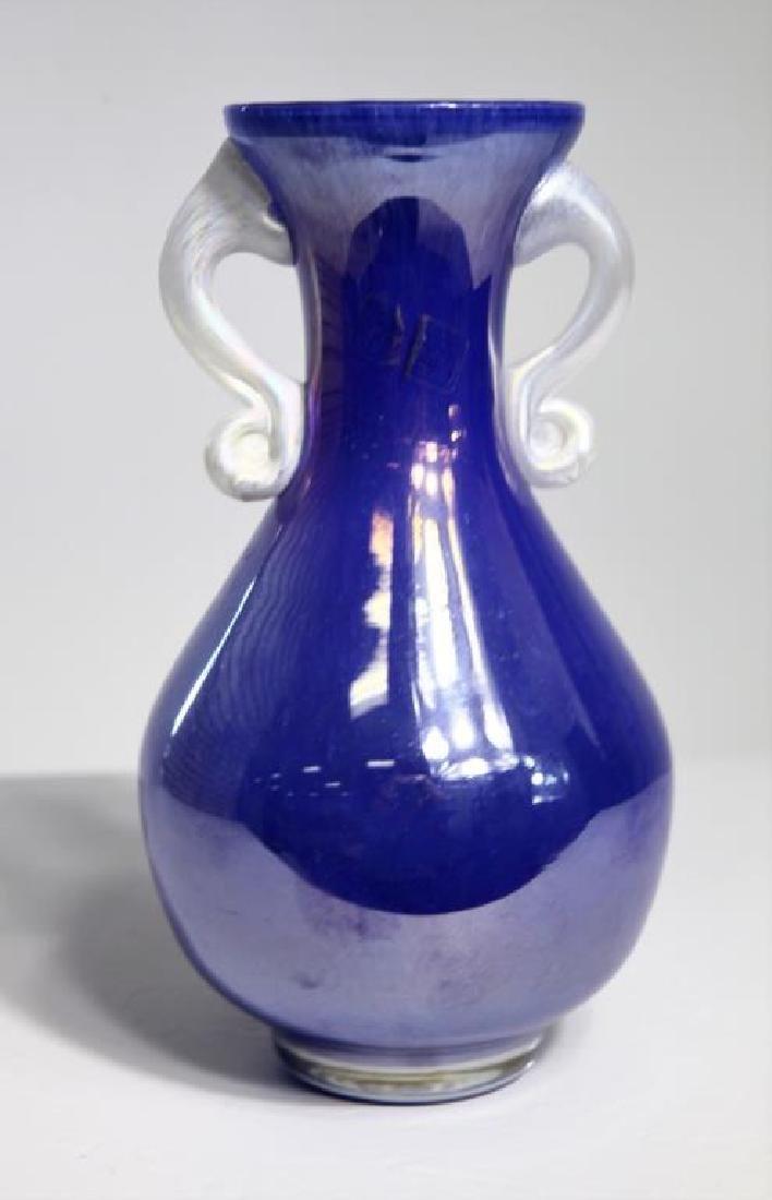 Italian Murano glass, iridescent purple vase