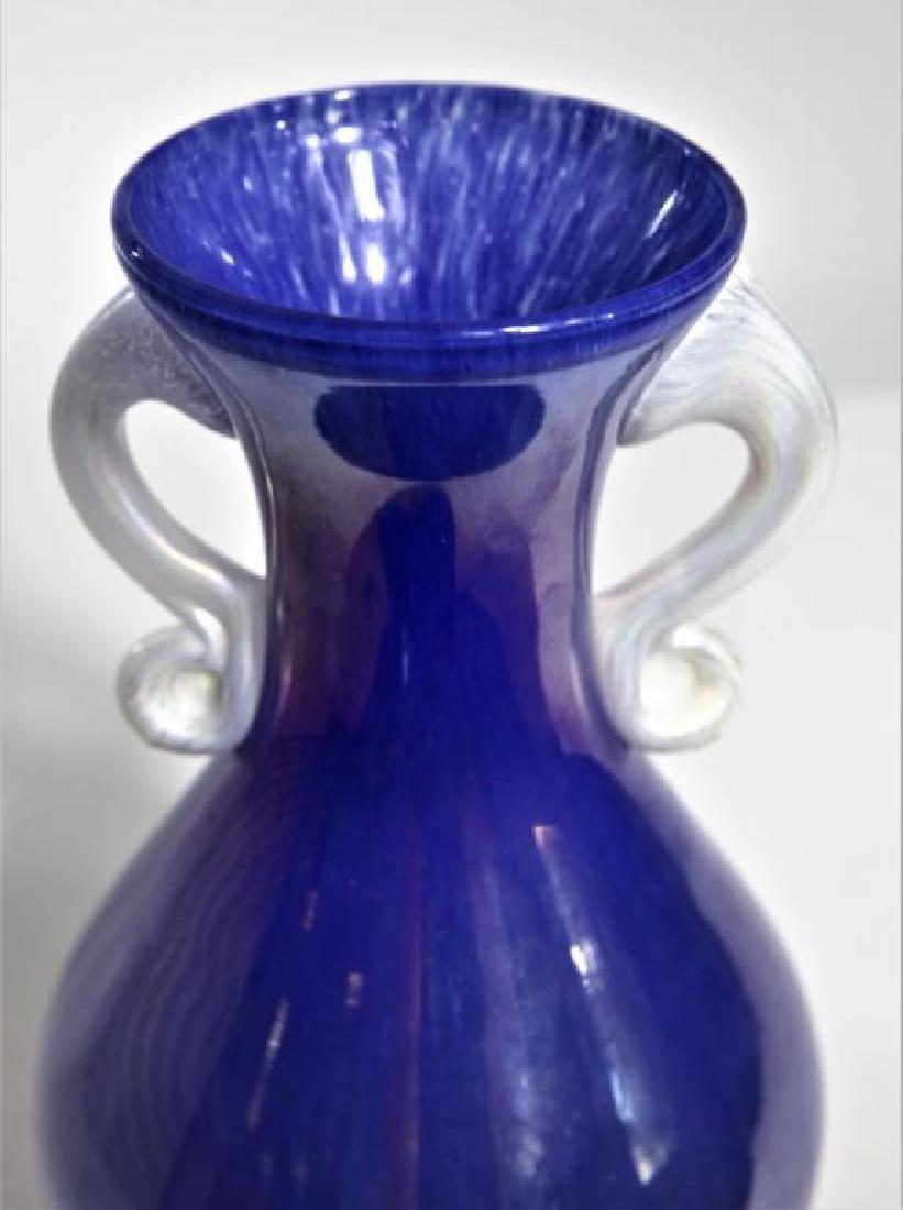 Italian Murano glass, iridescent purple vase - 3