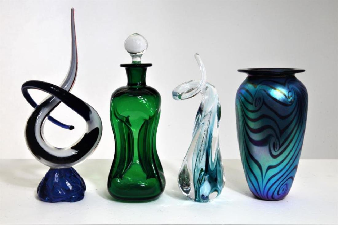 Four (4) Murano-syle pieces