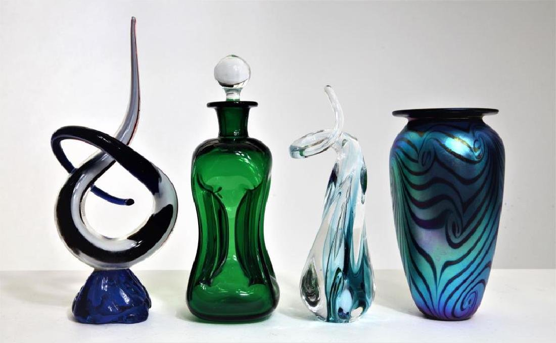 Four (4) Murano-syle pieces - 2