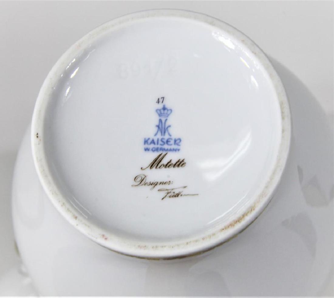 Kaiser German Porcelain Gilt trimmed Jar + Cover - 2