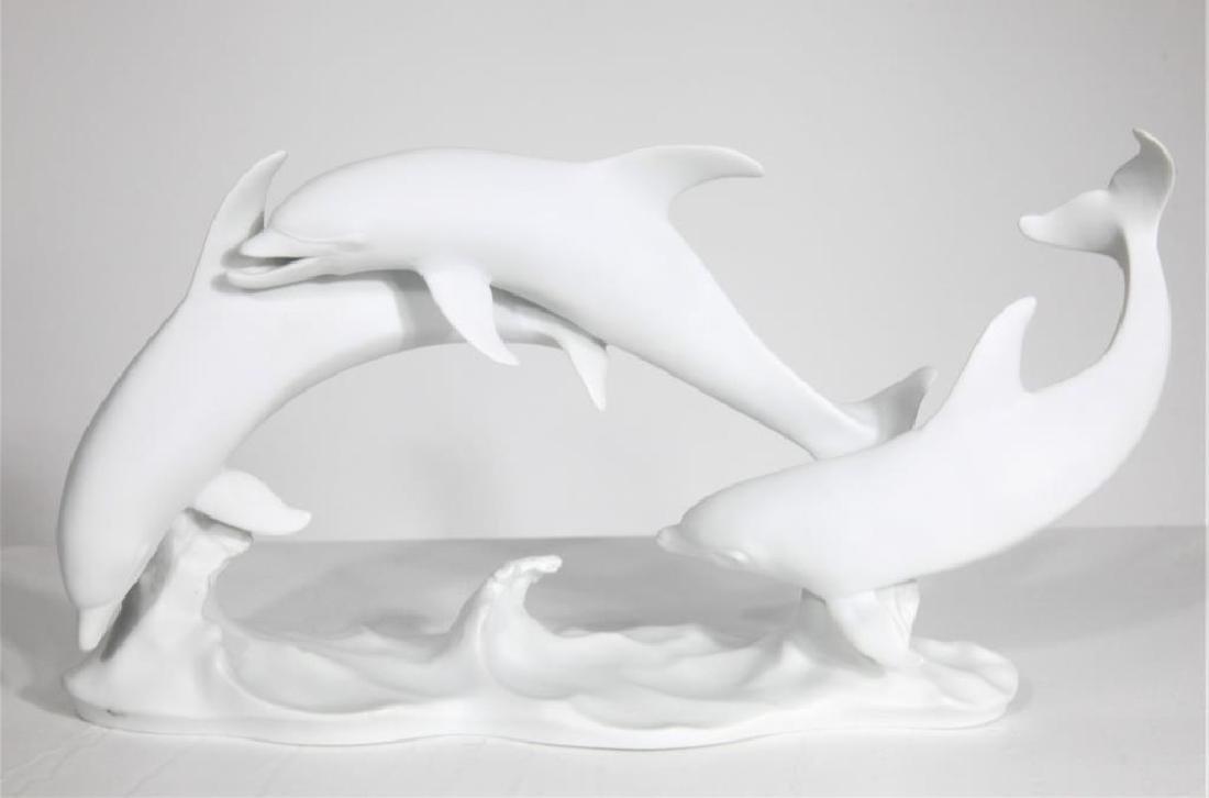 Kaiser German Porcelain Sculpture of Dolphins