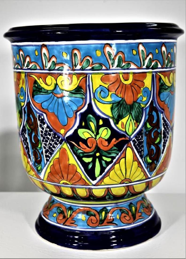 Colorfully Designed Ceramic Planter