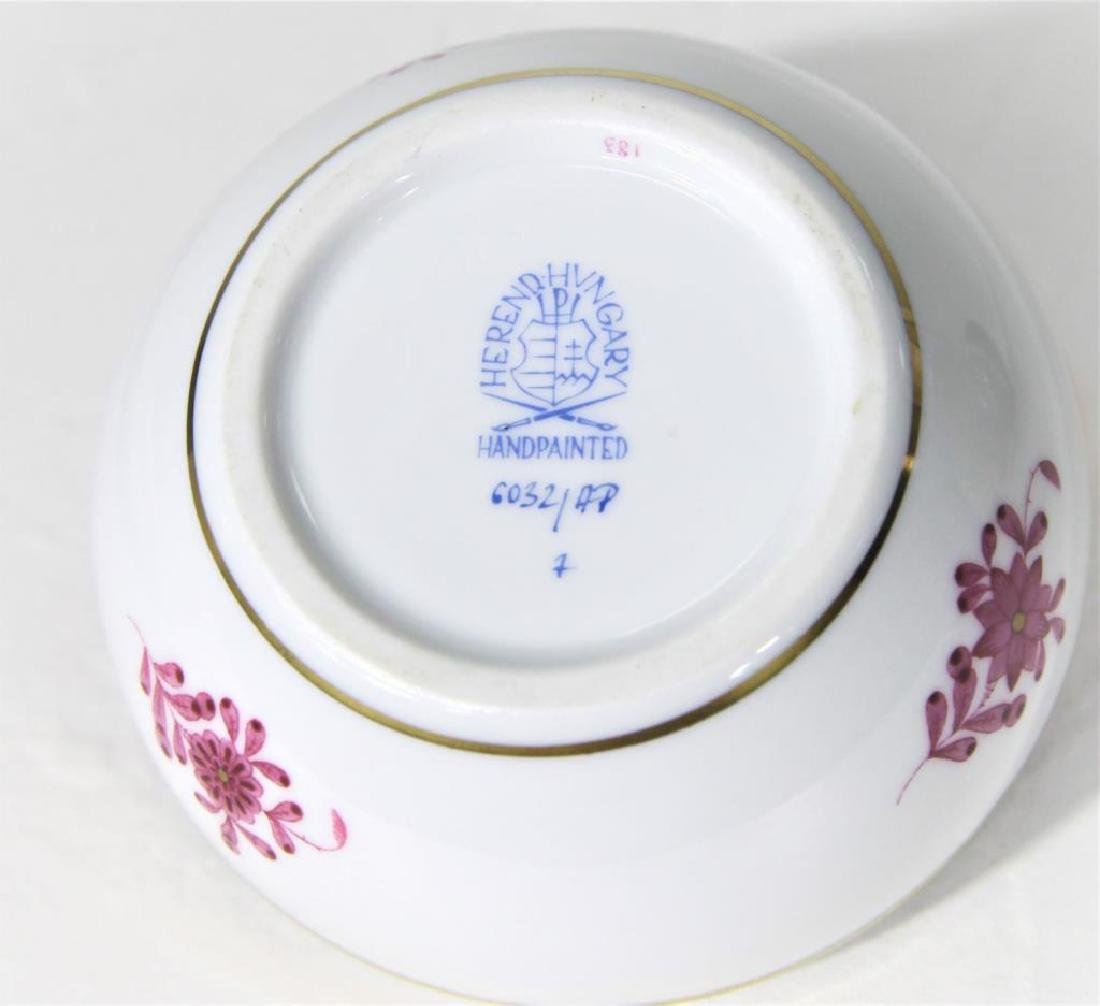 (3) Hand Painted Herend Hungary Oval Dishes - 10