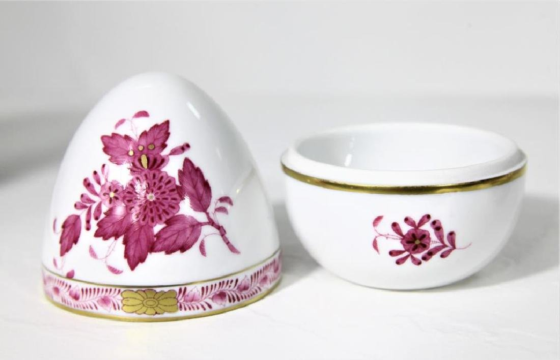 (3) Hand Painted Herend Hungary Oval Dishes - 5