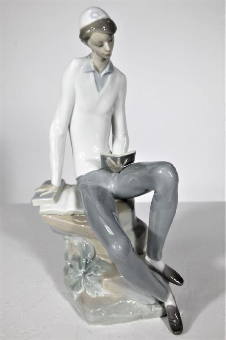 Vintage Lladró, Porcelain Figurine Hebrew Student