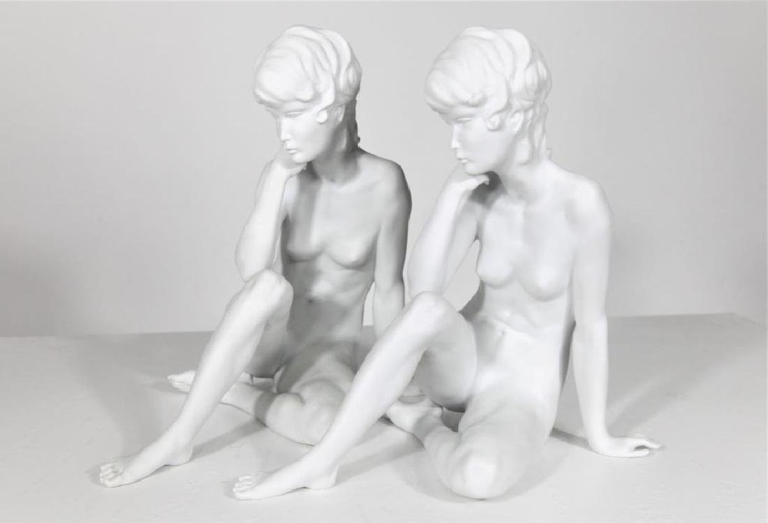 Pair of Kaiser Classic Nude Women Bisque Figurines