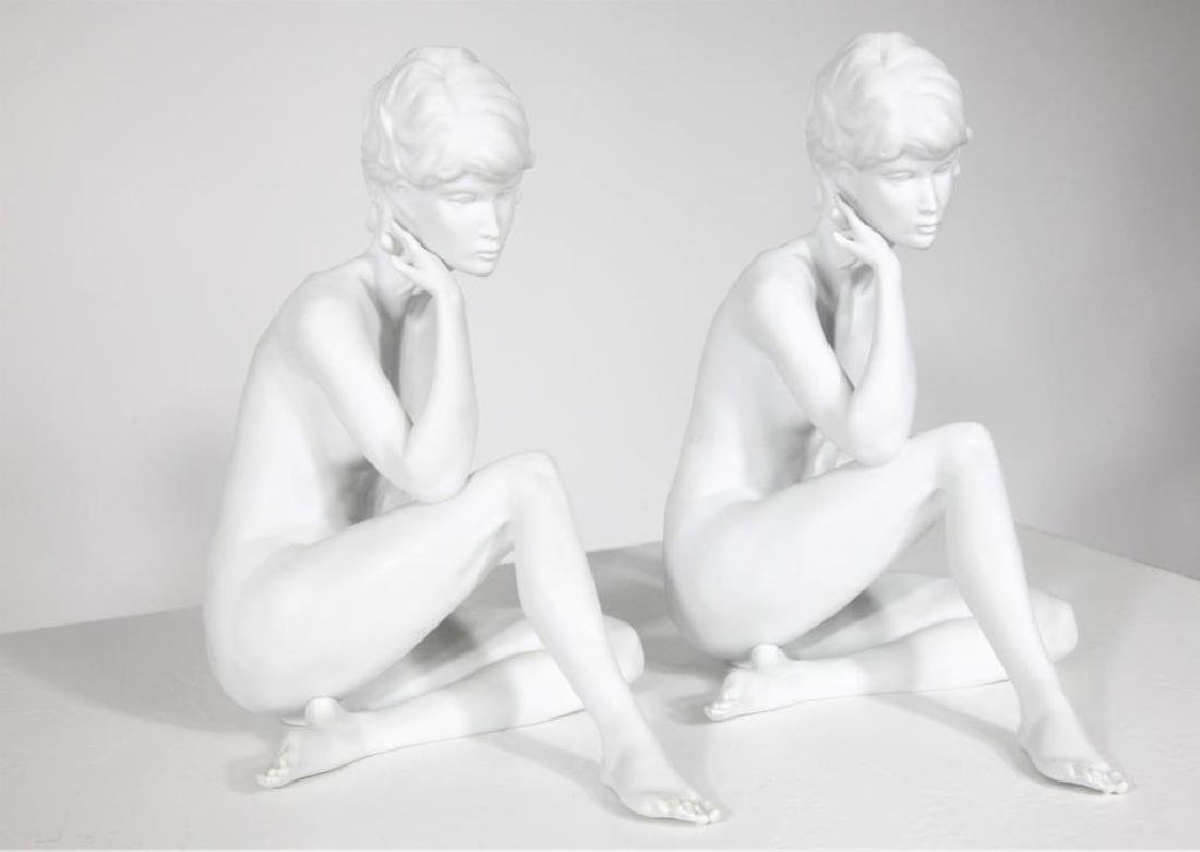 Pair of Kaiser Classic Nude Women Bisque Figurines - 2
