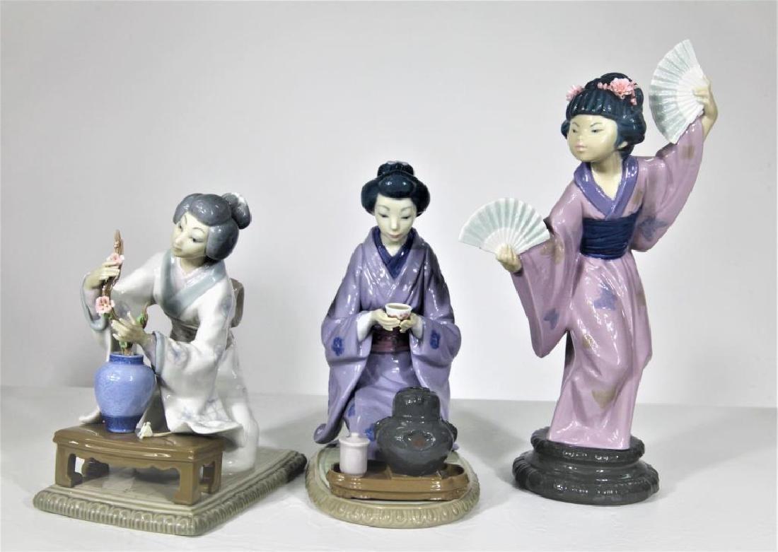 Lladró, Set of (3) Chinese Women