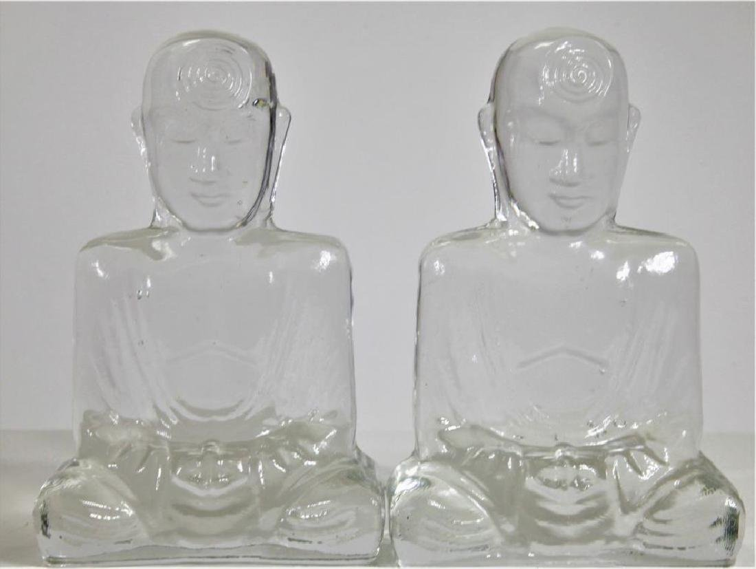 Glass Buddha Book Ends