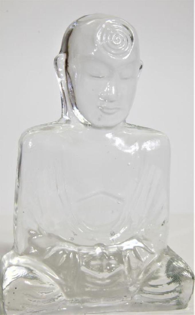 Glass Buddha Book Ends - 2