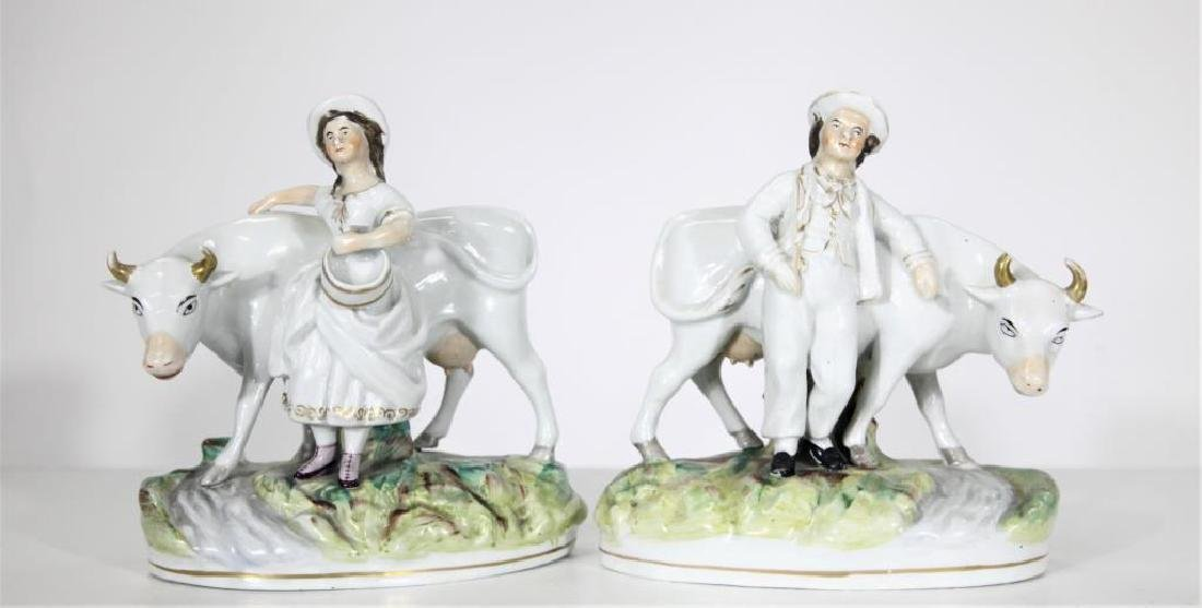 Pair of Staffordshire Figures