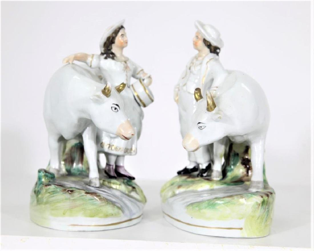 Pair of Staffordshire Figures - 4