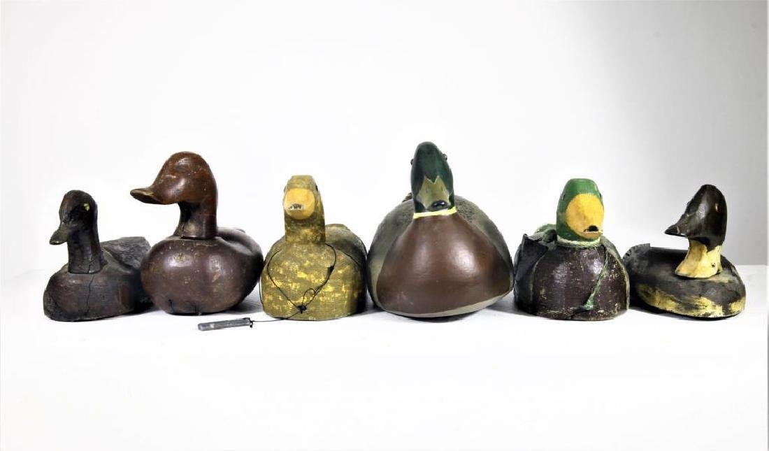 (6) Vintage Wooden Duck Decoys - 2