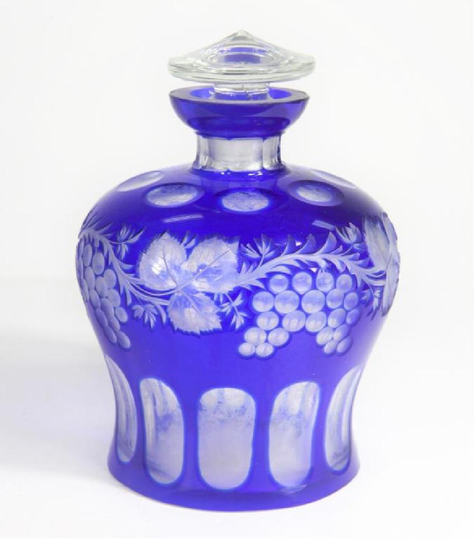 Large Blue Glass Perfume Bottle