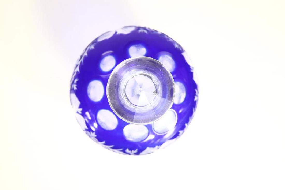 Large Blue Glass Perfume Bottle - 6