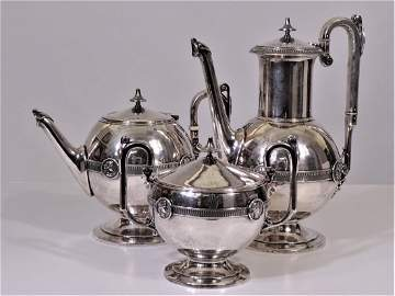 Crosby & Morse Medallion Silver Tea & Coffee Set