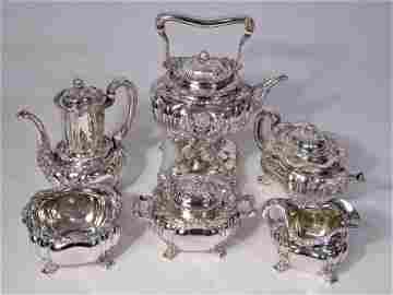 Antique Tiffany & Co. Chrysanthemum Tea Service 6 pcs