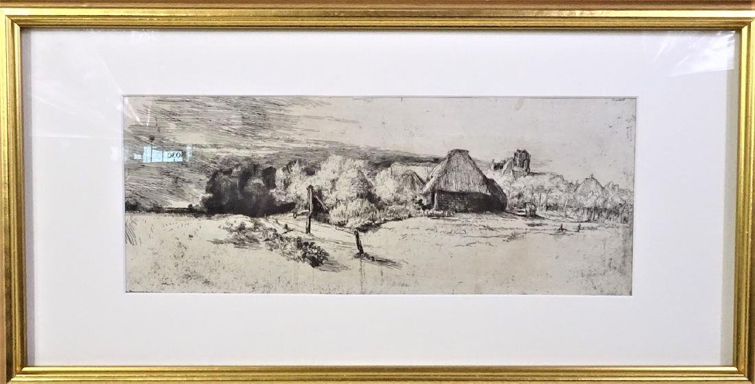 Rembrandt (1606 - 1669) Etching and Drypoint - 2