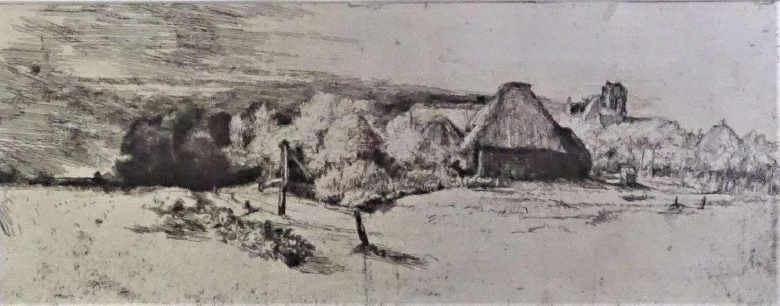 Rembrandt (1606 - 1669) Etching and Drypoint - 3