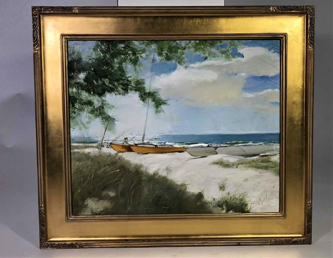 "Al Buell (1910-1996) ""Lido Beach"" Oil on Canvas"