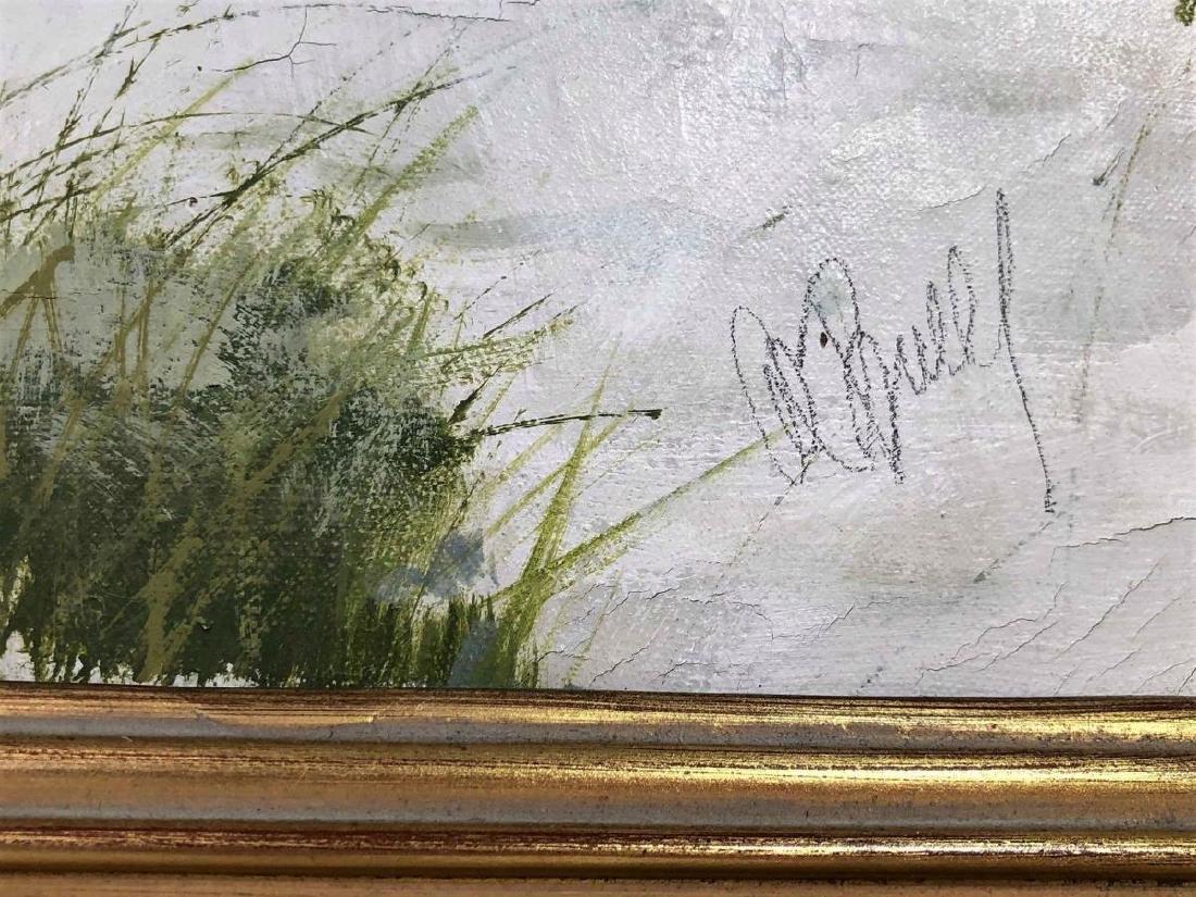 "Al Buell (1910-1996) ""Lido Beach"" Oil on Canvas - 3"