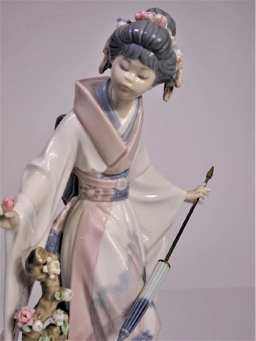Lladro'Japanese Girl with Umbrella' Figure - 2