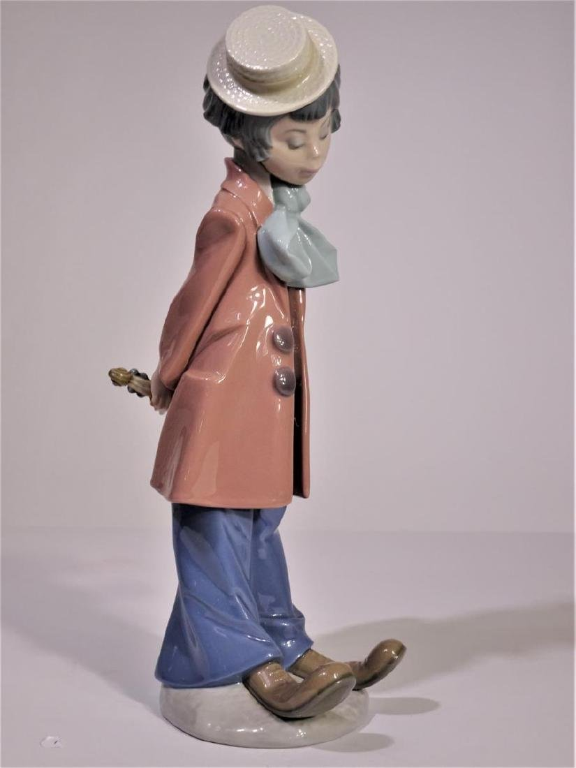 Lladro 'Clown Standing with Violin' Figure